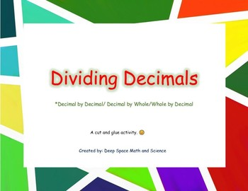Dividing Decimals Activity *FREEBIE*