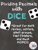 Dividing Decimals Activity with Dice