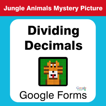 Dividing Decimals - Animals Mystery Picture - Google Forms