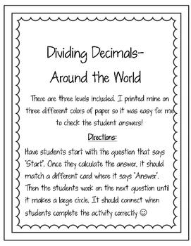 Dividing Decimals Around the World