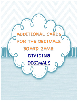 Dividing Decimals Board Game - Card Pack Only