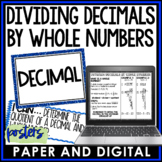 Dividing Decimals By Whole Numbers Posters 6.NS.B3