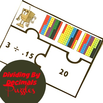 Dividing Decimals By Whole Numbers Puzzles