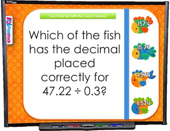 Dividing Decimals SMART BOARD Game (CSS 5.NBT.B.7)