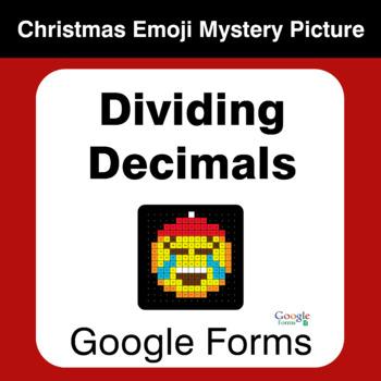 Dividing Decimals - Christmas EMOJI Mystery Picture - Google Forms