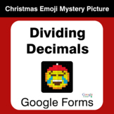 Dividing Decimals - Christmas EMOJI Mystery Picture - Google Forms