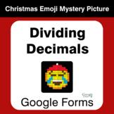 Dividing Decimals - Christmas EMOJI Mystery Picture - Goog