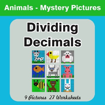 Dividing Decimals - Color-By-Number Math Mystery Pictures