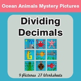 Dividing Decimals - Color-By-Number Mystery Pictures