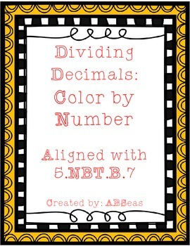 Dividing Decimals Color by Number FREEBIE