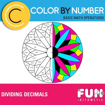 Dividing Decimals Color by Number