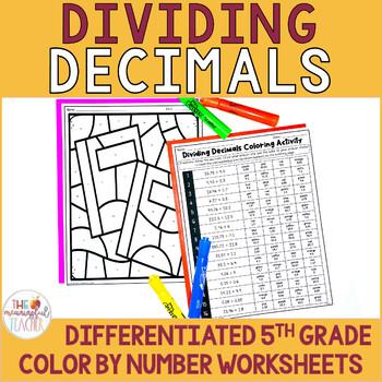 Dividing Decimals Coloring Activity