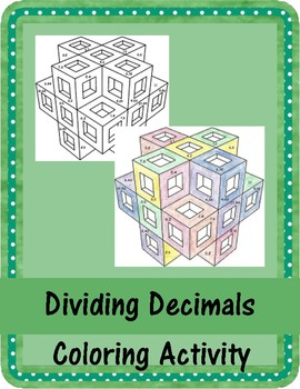 Dividing Decimals Coloring Acvtivity