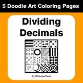 Dividing Decimals - Coloring Pages | Doodle Art Math