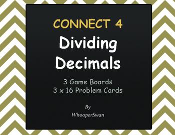 Dividing Decimals - Connect 4 Game