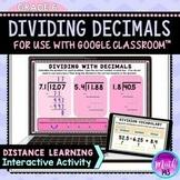 Dividing Decimals DIGITAL Activity for use with Google Slides™