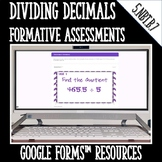 Dividing Decimals DIGITAL TASK CARDS Google Classroom