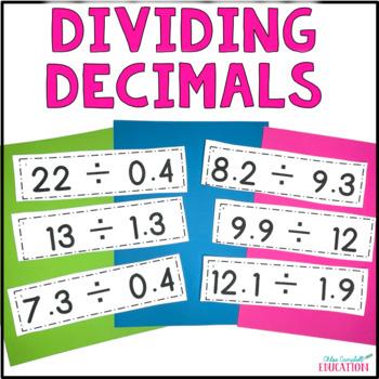 Dividing Decimals Differentiated Activity