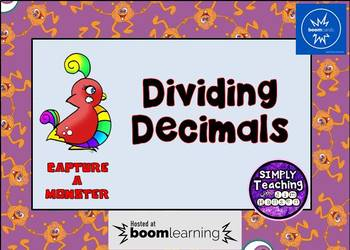 Dividing Decimals Digital Boom Cards Task Cards