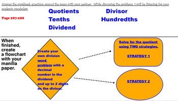 Dividing Decimals Division Flipchart Lesson