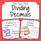 Division of Decimals Activities