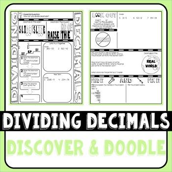 Dividing Decimals Doodle Notes