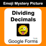 Dividing Decimals - EMOJI Mystery Picture - Google Forms