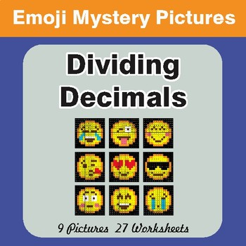 Dividing Decimals EMOJI Math Mystery Pictures