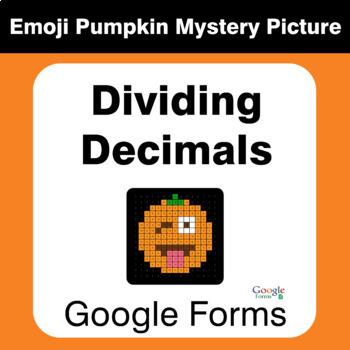 Dividing Decimals - EMOJI PUMPKIN Mystery Picture - Google Forms