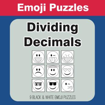 Dividing Decimals - Emoji Picture Puzzles