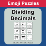 Dividing Decimals - Emoji Picture Puzzles