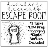 Dividing Decimals Escape Room