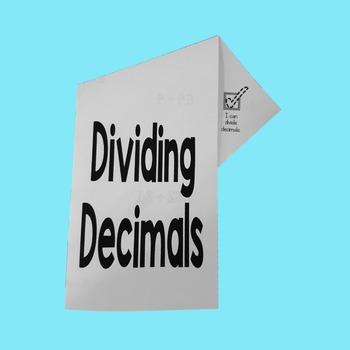 Dividing Decimals Fold-N-Go Notes™
