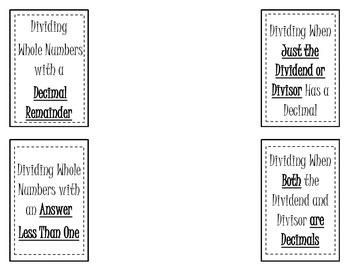Dividing Decimals Foldable (Flippable)