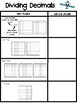 Dividing Decimals Guided Practice and Memory Game