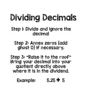 Dividing Decimals Handout