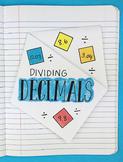 Doodle Notes - Dividing Decimals Interactive Notebook Foldable