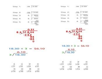 Dividing Decimals Journal Interactive Notes