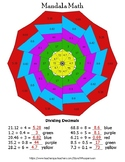 Dividing Decimals Mandala Math Color by Number