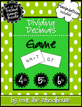 Dividing Decimals Matching Card Game