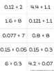Dividing Decimals Matching Card Game