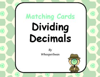 Dividing Decimals Matching Cards