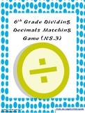 6th Grade Dividing Decimals Matching Game