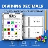 Dividing Decimals Math Bingo Review Game