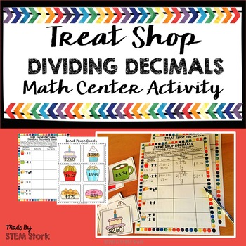 Dividing Decimals Math Center Activity