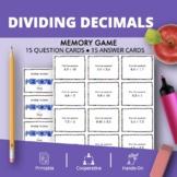 Dividing Decimals Math Memory Game