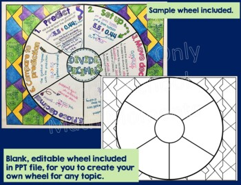 Dividing Decimals: Math Wheel for Decimal Division