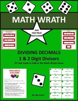 Dividing Decimals Math Wrath Game