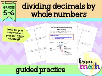 Dividing Decimals: Guided Practice