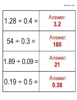 Dividing Decimals - Paper Clip Race